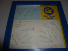 FRAMED 1951 CAL COLLEGE FOOTBALL CALIFORNIA TEAM SIGNED LES RICHTER NCAA AUTO >