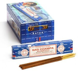Original Satya Sai Baba Nag Champa - Incense Sticks - 15 Grams 3 PACK ONLY