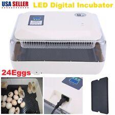 Led Digital 24 Egg Incubator Hatcher Temp Control Automatic Turning Bird Chicken