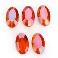 New 22mm 5pcs Flat Oval Faceted Glass Crystal Spacer Loose Beads Wedding Design