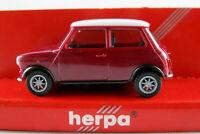 Herpa 021104 Mini Cooper (1992-1996) in violett/weiß 1:87/H0 NEU/OVP