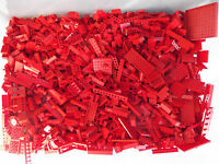 ☀100+ RED LEGO PIECES FROM HUGE BULK LOT BRICKS PARTS @ RANDOM NO MINIFIGURES