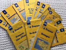 Lot de 13 Cartes Michelin anciennes jaunes selon photos années 1970 à 1990