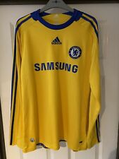2008/2009 Chelsea FC away football shirt Adidas academy worn long sleeved large