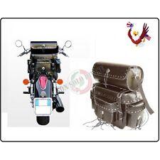 Borsa Posteriore da Schienalino + Bauletto Modello Cheyenne per Moto Custom Harl