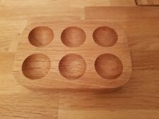 Solid Oak 6 Egg Holder By Jasper Conran, Excellent Condition