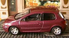 PEUGEOT 307 2001 SOLIDO 1/43 MADE IN FRANCE VIOLET NEUF 1/43 HACHETTE PURPLE