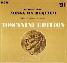 BOX SET AT 201 TOSCANINI/NBC verdi massa da requiem 2 LP EX/EX