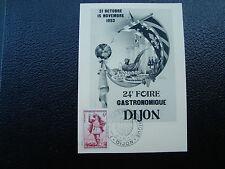 FRANCE - carte 31/10/1953 24eme foire gastronomique dijon (cy12) french (E)