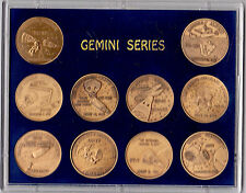 NASA GEMINI MANNED SPACE FLIGHT SERIES-SEALED ANTIQUE BRONZE COMMEMORATIVE SET