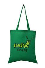 Bolso de mano: Caterpillar, lechuga verde, 100% algodón