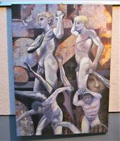 Heroren Gay  Männer Akt Männerakte Nackter Mann  auf Leinwand  100 x 135 cm