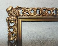 19th c Picture Frame French Rococo Style Gilt Wood & Gesso for Portrait Painting