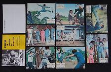 CHEN LA FUREUR DU KUNG FU 9 lobby card photo scenario film 1960s KARATE