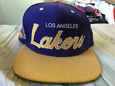 Mitchell & Ness Los Angeles Lakers Script Snapback Hat