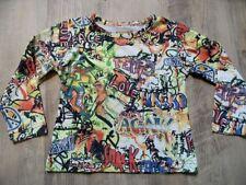 CARBONE schönes buntes Langarmshirt Graffiti Gr. 104 w. NEU  ST817