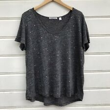 Country Road 100% Linen Grey Pattern Shirt Top Size XL
