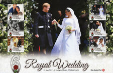 New Zealand NZ 2018 MNH Prince Harry Meghan Royal Wedding 6v M/S Royalty Stamps