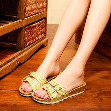 Summer Fashion Low-Heeled Lady Women Flat Jelly Beach Sandals Slippers Shoes D77