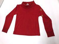 Vintage 1977 McDonald Long Sleeve Turtleneck T-Shirt -Red Kids Size 6