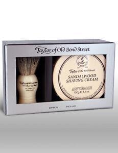 Taylor Of Old Bond Street Sandalwood Shaving Cream & Badger Brush Gift Set