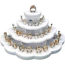 29 Rings White Ring Display Holds Jewelry Stand Closet Bathroom Organizer NEW