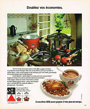 PUBLICITE ADVERTISING 064  1975  SEB   cocotte minute