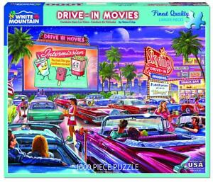Drive-In Movies 1000 piece jigsaw puzzle   760mm x 610mm   (wmp)