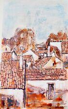Michel DE ALVIS - Peinture Originale - Huile - Les toits 5