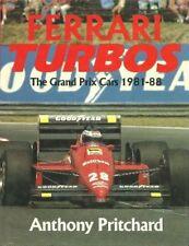FERRARI TURBOS THE GRAND PRIX CARS 1981-88, PRITCHARD, NEW HARDBOUND F1 BOOK
