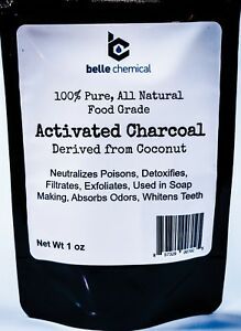 Coconut Activated Charcoal Powder - Food Grade - Kosher - Halal