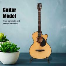 Folk Guitar Model Craft Ornament Wooden Miniature Guitar Model Mini Cutaway NEW