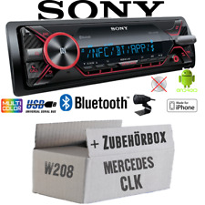 Sony Radio für Mercedes CLK W208 | Bluetooth MP3/USB iPhone/Android - Einbauset