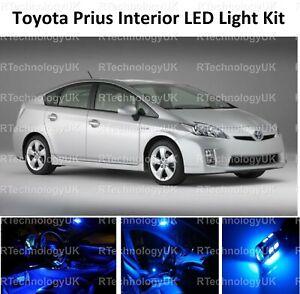 BLUE PREMIUM TOYOTA PRIUS 2009-2015 INTERIOR UPGRADE LED LIGHT BULBS KIT XENON