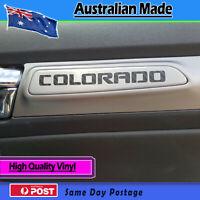 Door Decal fits Holden Colorado door Carbon fibre finish - set of 4