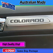 Door Decal fits Holden Colorado door Carbon fibre finish - set of 2