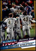 Oakland Athletics 2020 Topps Decade's Best Series 2 5x7 Gold #DB-52 /10