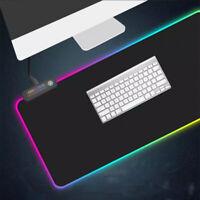 LED Gaming Mouse Keyboard Pad Large RGB Mousepad Antislip Mat Gamer PC Laptop