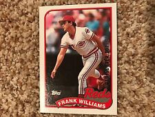 Frank Williams Reds 2017 Topps Rediscover Buyback SILVER 1989 Topps #172