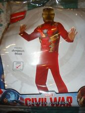 New Marvel's Iron Man Boy's size Large 12-14 Two Piece Costume