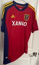 MLS Adidas Mens L Soccer Jersey Size Large Real Salt Lake 2012 Climacool Shirt