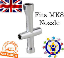 3D Printer Nozzle Wrench Removal Hexagonal Tool For MK8 Brass Steel M2 .5 M3 M4
