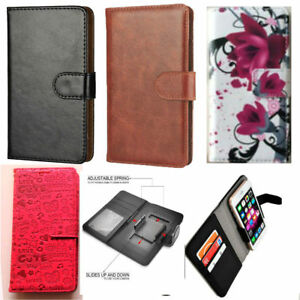 Universal Slim Premium Clip-on Mobile Phone Case For Nuu Mobile G3  PU Leather L