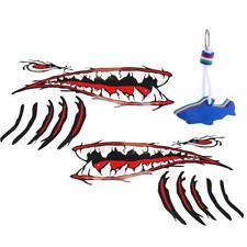 Bouche & Dents de Requin Autocollants Décalque de Vinyle 2pcs avec Porte