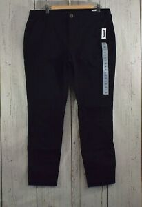 Women's Old Navy Mid-Rise Skinny Everyday Khakis Black Jack Size 14 NWT