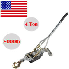 Us 4Ton 8000lb Hand Puller Cable Puller Pulling With Hook Winch Hoist Ratcheting