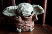 Baby Yoda Doll - Amigurumi Crochet Baby Yoda Inspired by The Mandalorian
