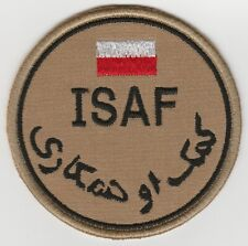 ISAF. AFGHANISTAN. NATO forces POLAND patch DESERT 'N' VLCRO