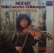 Fujikawa: Mozart Compl works for violin & orchestra: Decca D239D 4 (4LP box), NM