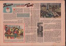 Rocket Fusée V2 Scaphandre Cosmonaute Astronaute spationaute  1951 ILLUSTRATION